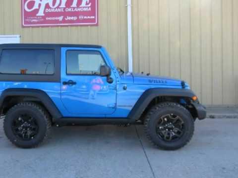 2016 jeep wrangler 4x4 sport blue new suv for sale ada ok youtube. Black Bedroom Furniture Sets. Home Design Ideas