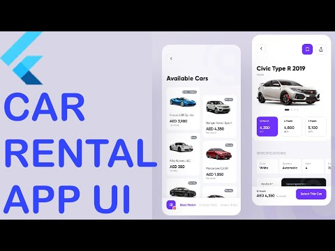 FLUTTER CAR RENTAL APP UI FULL TUTORIAL | APPS FROM SCRATCH