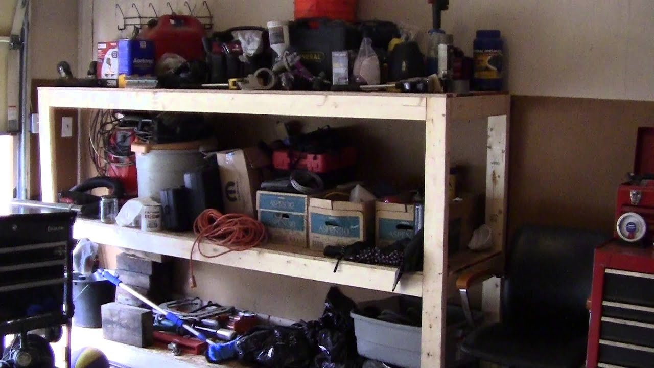 How I Built A Garage Shelf And Work Bench With The Kreg