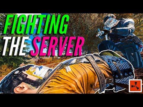 FIGHTING THE SERVER (Rust PVP & RAIDING Highlights)