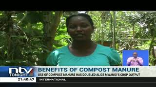 Farmer in Kabete adopts homemade manure technology