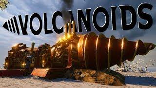 Robotic Humanoids Attack My Drillship! - Upgrading & Expanding My Drillship - Volcanoids Gameplay