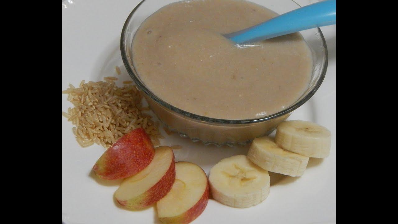 Healthy baby food recipe banana apple porridge rice with banana healthy baby food recipe banana apple porridge rice with banana apple l 6 months youtube forumfinder Gallery