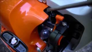 stihl bg 55 leaf blower muffler mod carb tuning