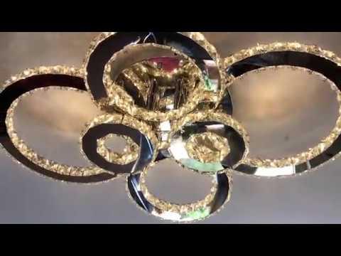 Kronleuchter Led Schwarz ~ Vingo® led kristall deckenleuchte kronleuchter einstellbar