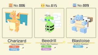 Pokemon Quest: Shiny Beedrill vs Flame Pokemon Charizard and Shellfish Pokemon Blastoise