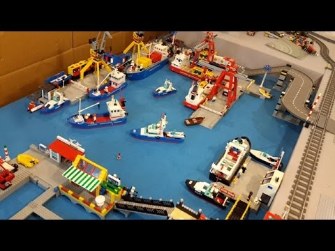 LEGO City Update: Seaport with Train Line