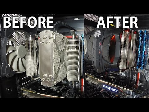 How to clean Cooler Master V8 GTS CPU Air Cooler without removing it from the motherboard