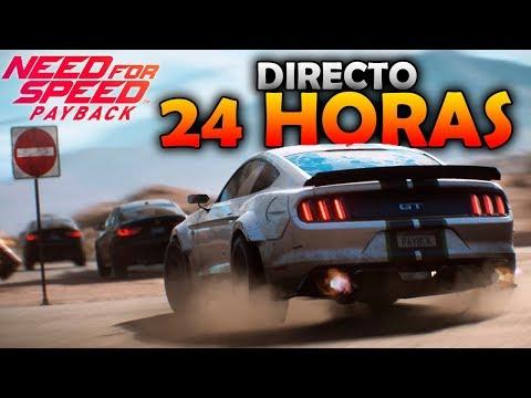 Directo 24 Horas Need for Speed Payback | #3 de 8 a 12 horas | Drift y policía! Yeah! | BraxXter