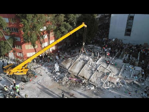 Drone footage reveals aftermath of Mexico earthquake