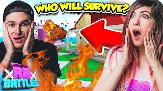 SURVIVE THE NATURAL DISASTERS AND WIN 10,000 ROBUX! (Roblox Battles)