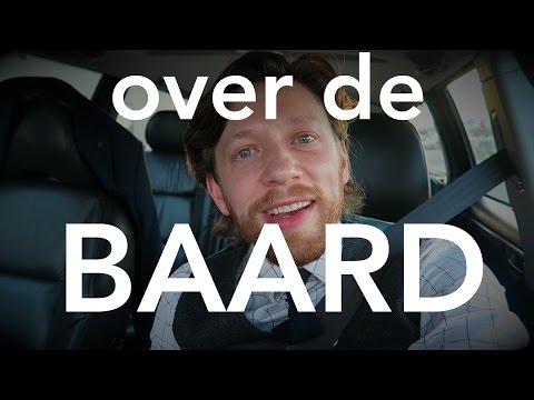 Over de baard.