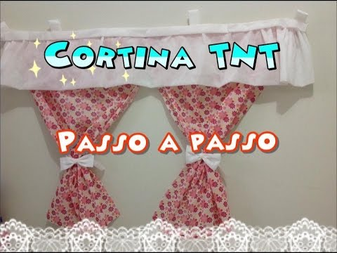 Cortina de tnt passo a passo youtube - Modelos de cortinas infantiles ...