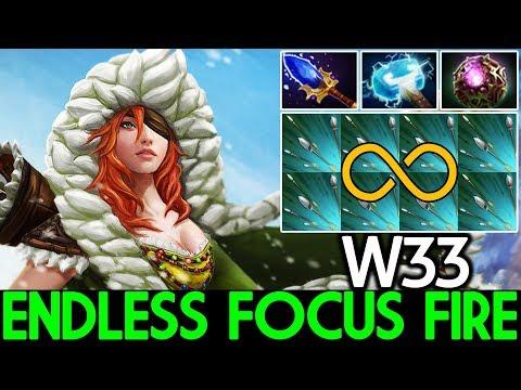 W33 [Windranger] Endless Focus Fire Pro Carry Game 20 Kills 7.21 Dota 2