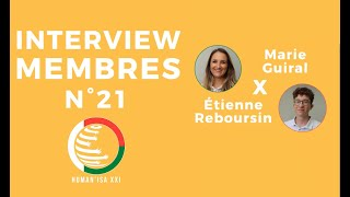 INTERVIEW MEMBRES N°21 : Marie & Etienne