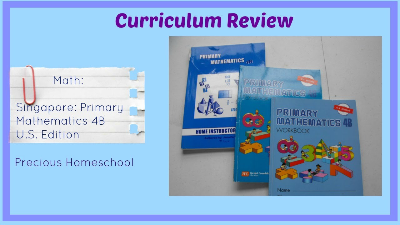 Workbooks primary mathematics workbook : Curriculum Review: Singapore Math: Primary Mathematics 4B U.S. ...