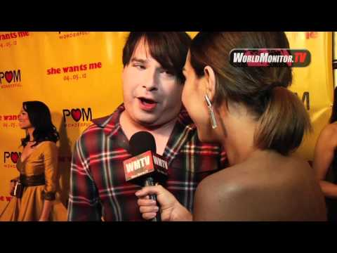 Joel Michaely of 'She Wants Me' talks sexual positions to Korrina Rico on the red carpet