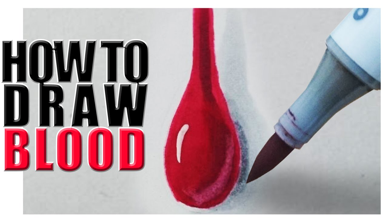 How To Draw Blood With Copic Markers [tutorial]