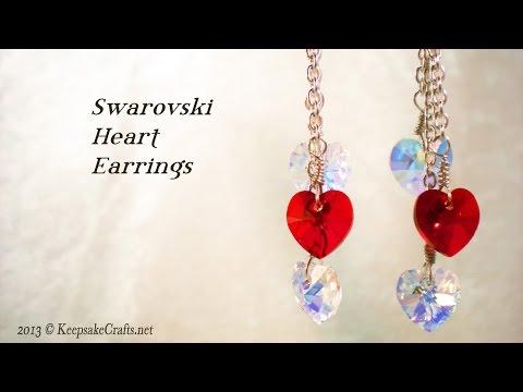 Swarovski Crystal Heart Earrings Video Tutorial