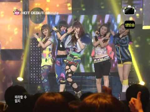 [Live] 4minute - Hot Issue (debut on M! Countdown 18.06.2009)