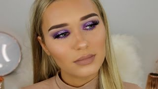 How To Slay Purple Eyeshadow | Full Face Makeup Tutorial