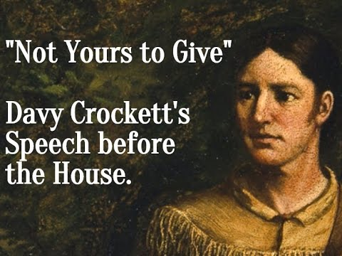 Davy Crockett Not Yours To Give