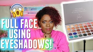 I USED EYESHADOW FOR FOUNDATION, CONCEALER, AND LIPSTICK | JACLYN HILL MORPHE PALETTE
