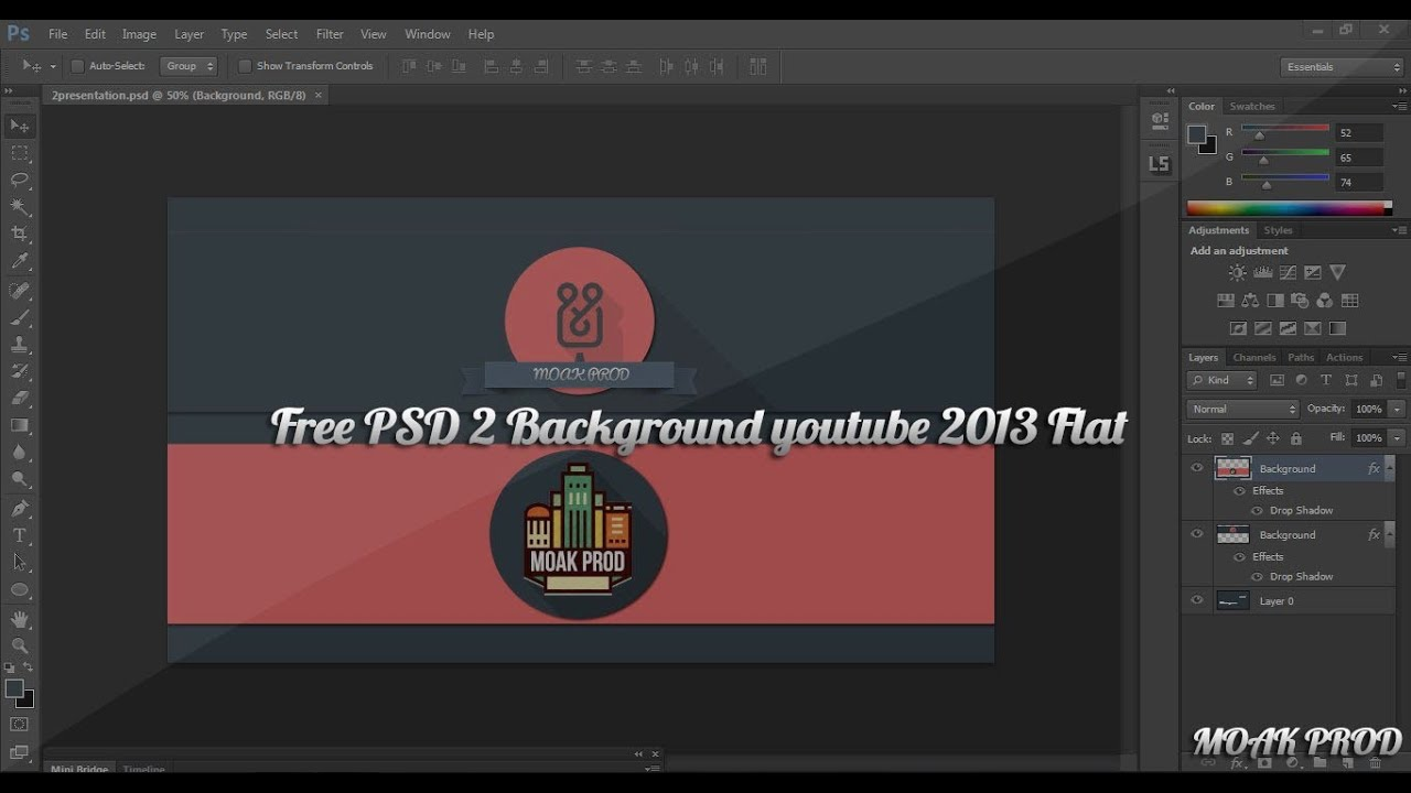 Free YouTube Background Template PSD 2013 - One Channel [Link in ...