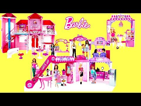 Barbie Life in the Dreamhouse Malibu Dreamhouse, shopping Mall Supermarket Bakery Unboxing Review