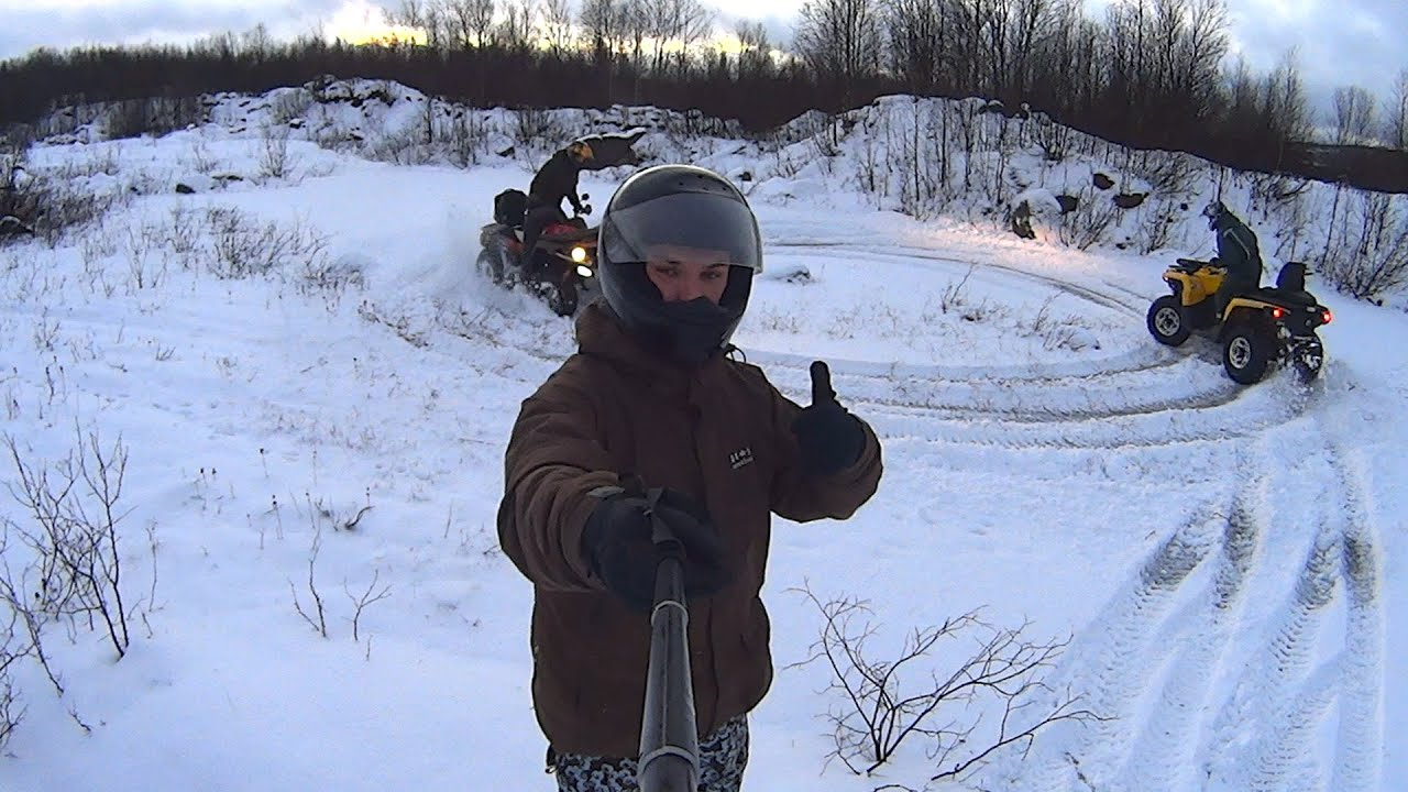 Квадроциклы зимой картинки