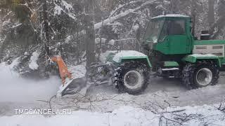 расчистка  дороги в лесу мульчером зимой. Что выбрать мульчер , ротоватор или измельчитель