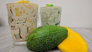 Mango and Avocado Sago't Gulaman Recipe   How to Make Sago at Gulaman   Summer Desserts