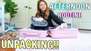 UNPACKING AFTER LA!! GRWM to go to target & bts filming!! My afternoon routine
