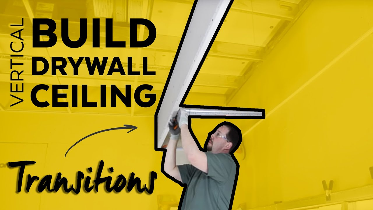Vertical Acoustical to Drywall Transition Molding Installation - YouTube