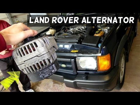 Land Rover Discovery Alternator Removal Replacement Generator