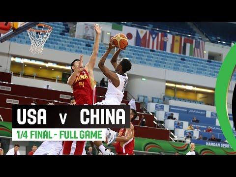 USA v China - Quarter Final Full Game - 2014 FIBA U17 World Championship