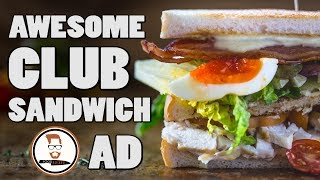 AWESOME CLUB SANDWICH | Cycling through London Food-Busker-style