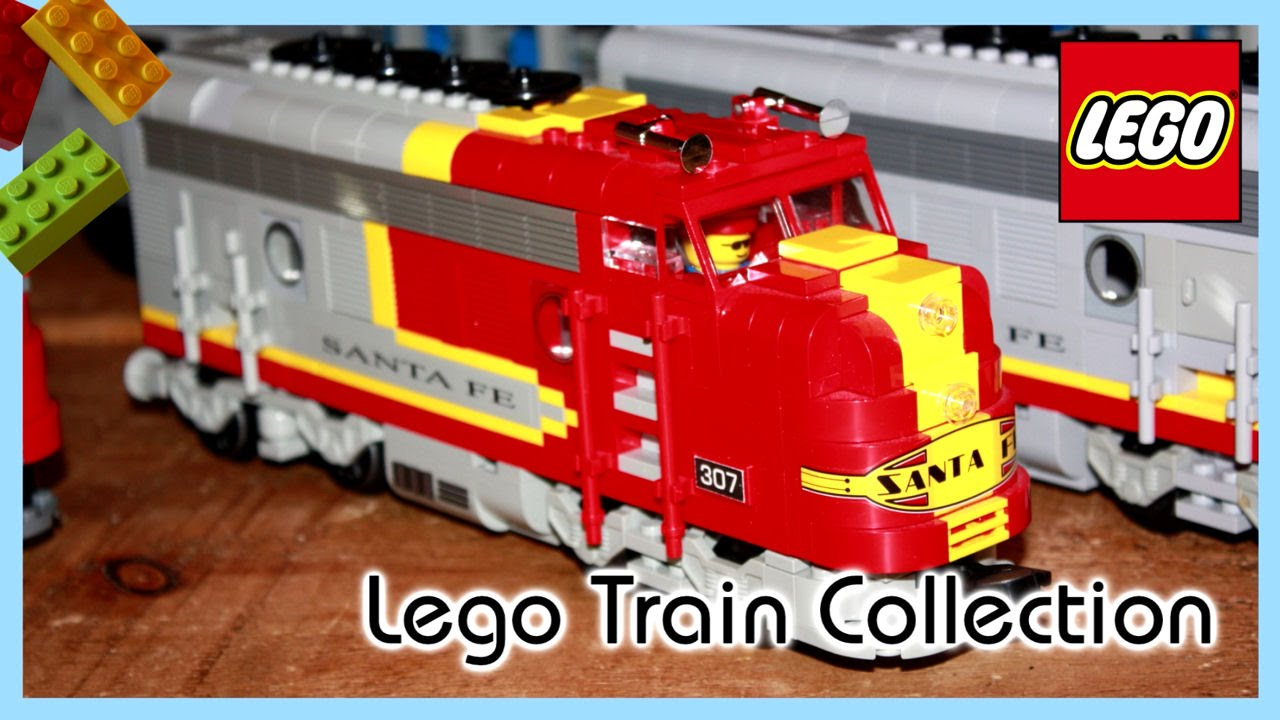Large Lego Train Collection Youtube