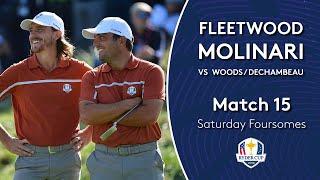 Molinari/Fleetwood vs Woods/DeChambeau | Saturday Foursomes | 2018 Ryder Cup
