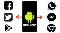 All Dark Mode apps for android
