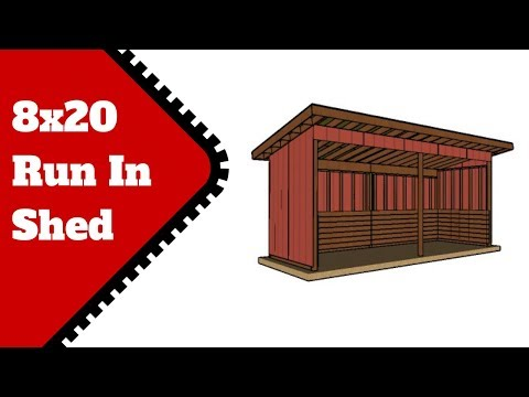 8x20 Run in Shed Plans Free