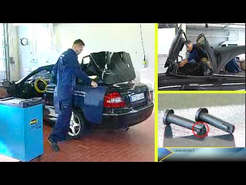 Mercedes Benz ( repair work on the retractable partition of the CLK)