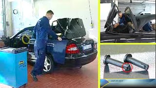 Mercedes-Benz CLK | Repair work on the retractable partition