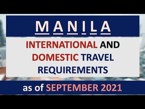 MANILA TRAVEL REQUIREMENTS as of SEPTEMBER 2021 | DOMESTIC & INTERNATIONAL | via PAL, AIR ASIA, CEB