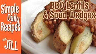 Instant Pot Bbq Lentils And Baked Potato Wedges