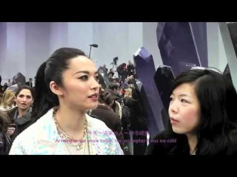 ParisCherie talks to Yao Chen at Chanel A/W 2012 in Paris