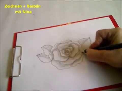 Zeichnen lernen fr Anfnger Blume zeichnen Eine