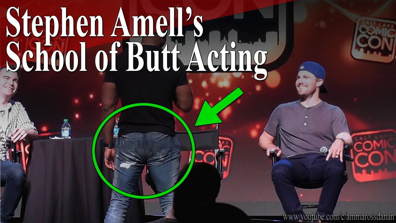 "david ramsey demonstrates ""stephen amell's school of butt acting"