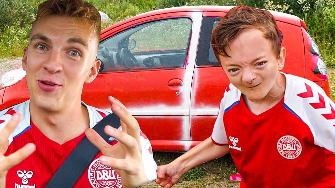 Piet maler min bil RØD OG HVID!