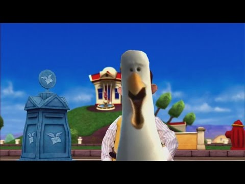 The mine song (lazytown) but the seagulls say mine instead